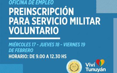 Preinscripciones abiertas para el Servicio Militar Voluntario