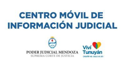 El Móvil de Información Judicial se encuentra en la Plaza Departamental brindando asesoramiento legal