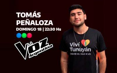 """Tomás Peñaloza: el tunuyanino que quiere triunfar en """"La Voz Argentina 2021"""""""