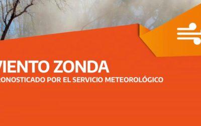 Recomendaciones frente a la posibilidad de viento Zonda