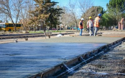 El Municipio construye una nueva plaza en un joven barrio de Tunuyán